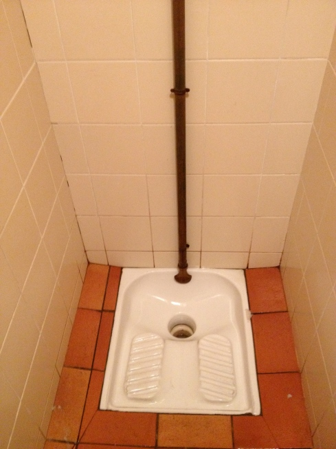 Turkish or squat toilet!