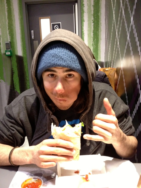 Fred au McDo avec son chicken legend!