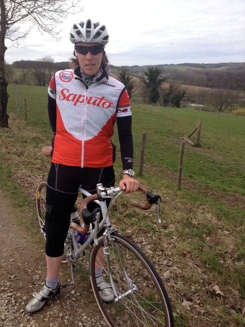 Avec mon vélo vintage dans la campagne néerlandaire!