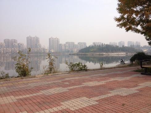 Couvert de smog sur la belle ville de Dongying!