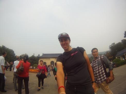 Selfie près du mausolée