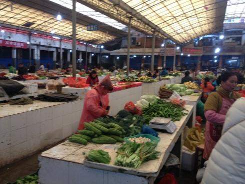 Le marché de Yangshuo