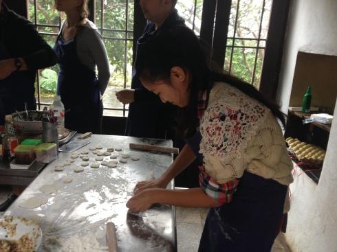 Préparation des dumplings